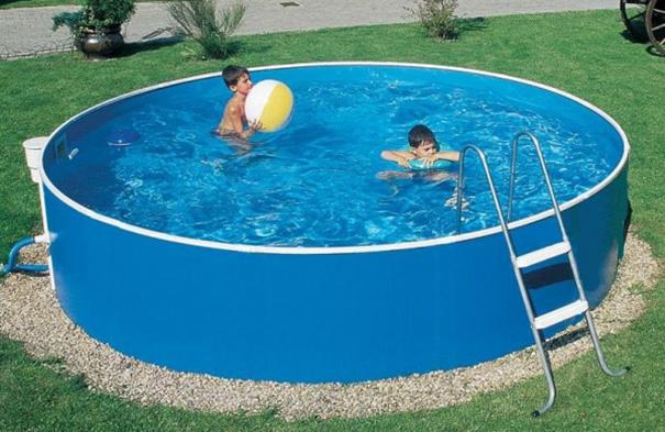 Piscine en acier hors sol gamme azuro volume de 9m3 france piscine - Piscine hors sol france ...